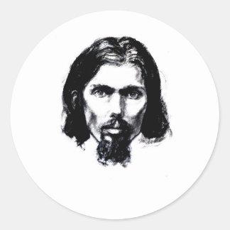 Noah Park Self Portrait Classic Round Sticker
