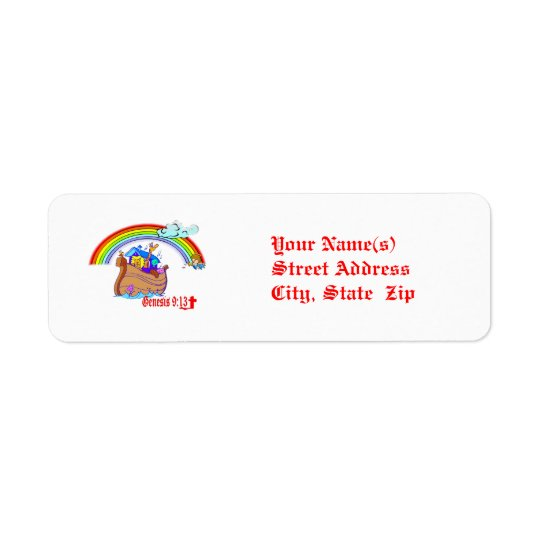 Noah's Ark Return Address Label