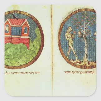 Noah's Ark and Adam and Eve Square Sticker