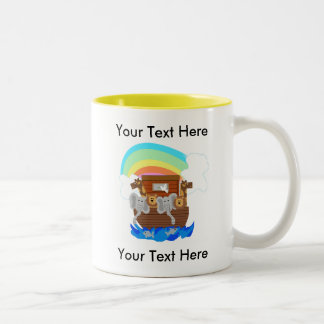 Noah's Ark Customizable Two-Tone Coffee Mug
