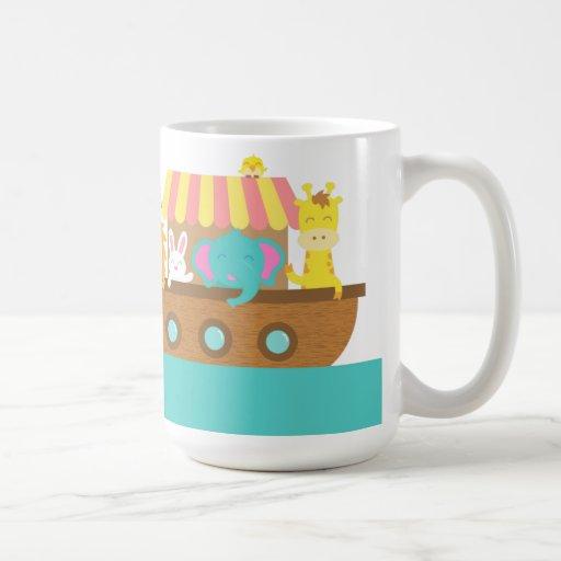 Noah's Ark, Cute Animals on Vessel Mug