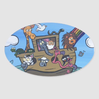 Noah's Ark Oval Sticker