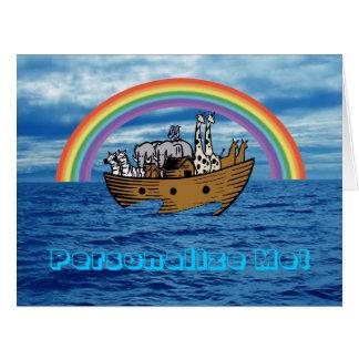 Noah's Ark - Personalize Me! Card