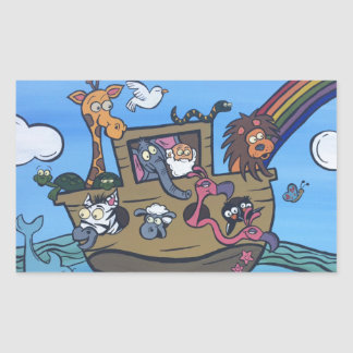 Noah's Ark Rectangular Sticker