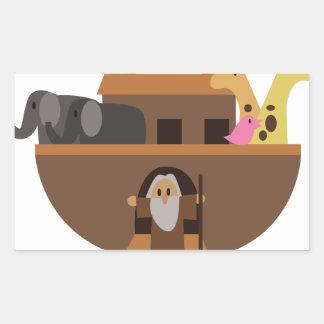 Noahs Ark Rectangular Sticker