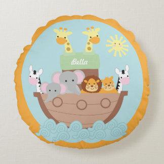 "Noah's Ark Round Pillow 16"""