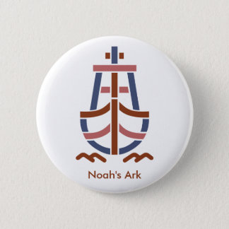 Noah's ArkRetro_Ship_Logo-CL23 6 Cm Round Badge