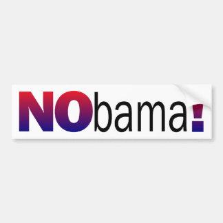Nobama Anti-Obama Bumper Sticker