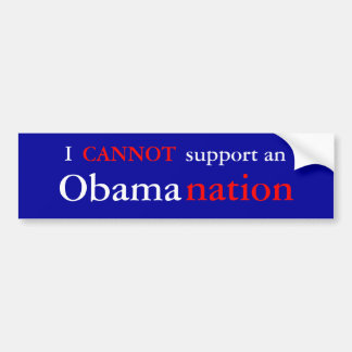 NObamaNation Bumper Sticker