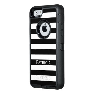 Noble White And Black Stripes. Customize It! OtterBox iPhone 6/6s Case