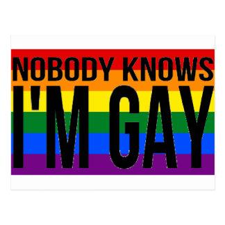 Nobody Knows I'm Gay Postcard