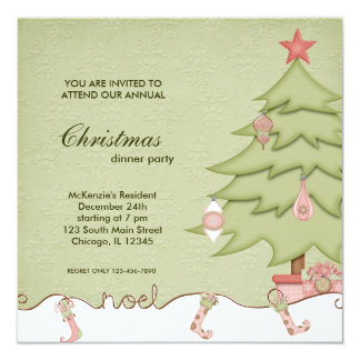 Noel Christmas Dinner Card