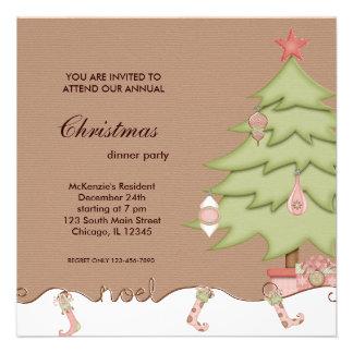 Noel Christmas Dinner Custom Invite