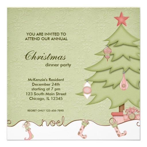 Noel Christmas Dinner Custom Announcements