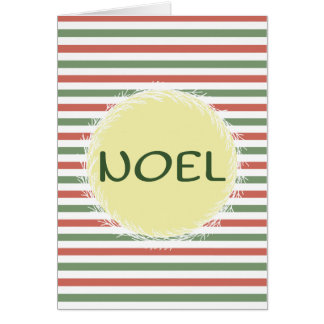 """""""Noel"""" Christmas Greeting Card"""