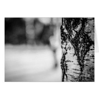 Noir Winter Tree Card