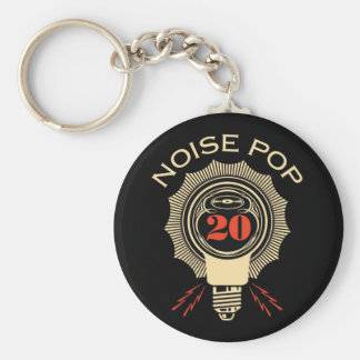 Noise Pop 20 Basic Round Button Key Ring