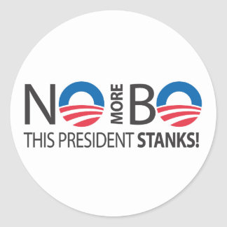 NoMoreBo_thispresidentStanks.ai Classic Round Sticker
