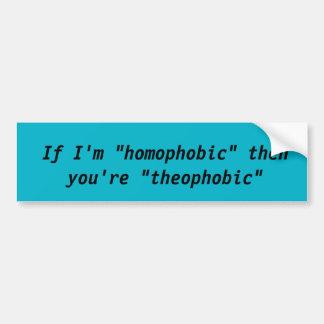 Non-homophobic bumper sticker