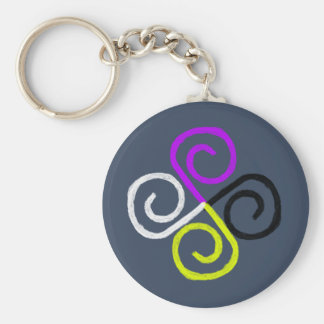 Nonbinary Pride Key Ring