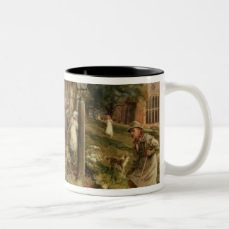 None But The Brave Deserve The Fair' Two-Tone Coffee Mug