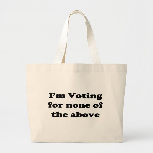 None of the above canvas bags