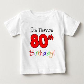 Nonno's 80th Birthday Baby T-Shirt