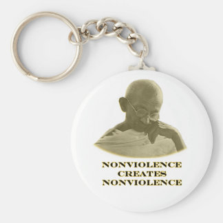Nonviolence Gold The MUSEUM Zazzle Gifts Key Chain
