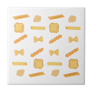 Noodle Shapes Small Square Tile