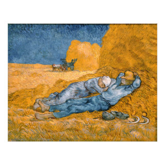Noon, Rest From Work After Millet Vincent Van Gogh Art Photo
