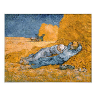 Noon – Rest from Work by Vincent Van Gogh Photo Art