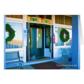 Nora Store at Christmas Greeting Card