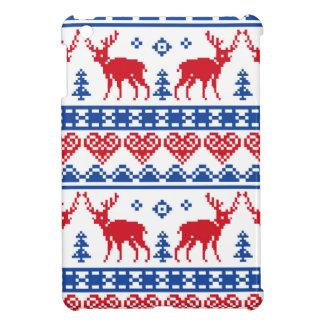 Nordic Christmas Reindeer Pattern iPad Mini Cases