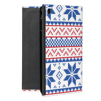 Nordic Snowflakes Christmas Pattern Cover For iPad Mini