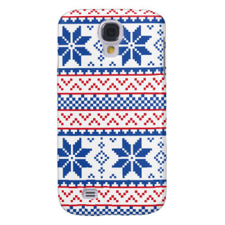 Nordic Snowflakes Christmas Pattern Galaxy S4 Case