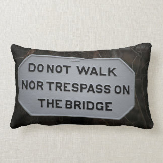 Norfolk and Western Railway Bridge Sign Pillow