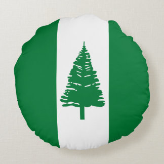 Norfolk Island Flag Round Cushion