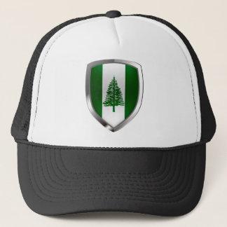 Norfolk Island Metallic Emblem Trucker Hat