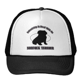 NORFOLK TERRIER DOG DESIGNS CAP