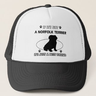 NORFOLK TERRIER dog designs Trucker Hat