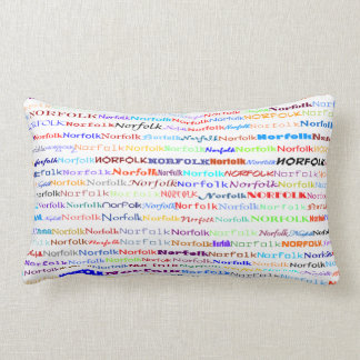 Norfolk Text Design II Lumbar Pillow