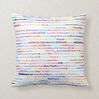 Norfolk Text Design II Throw Pillow