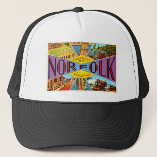 Norfolk Virginia VA Old Vintage Travel Postcard- Trucker Hat