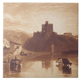 Norham Castle, engraved by Charles Turner (1773-18 Tile
