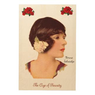 Norma Talmadge Wood Print