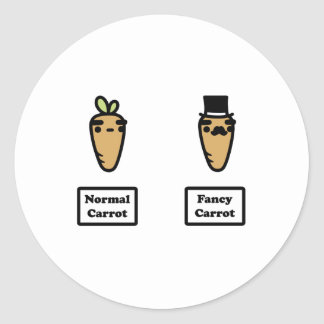 Normal Carrot, Fancy Carrot Classic Round Sticker