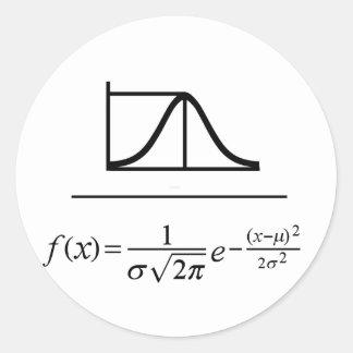 Normal Distribution Classic Round Sticker