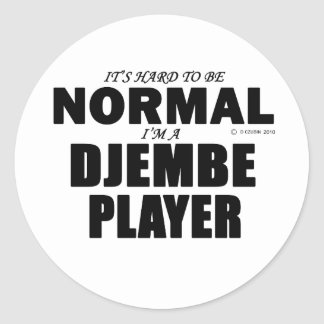 Normal Djembe Player Classic Round Sticker