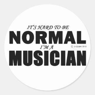 Normal Musician Classic Round Sticker