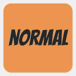 normal text 3 camadas square sticker